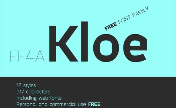 1.Free-Font-Of-The-Day-FF4a-Kloe