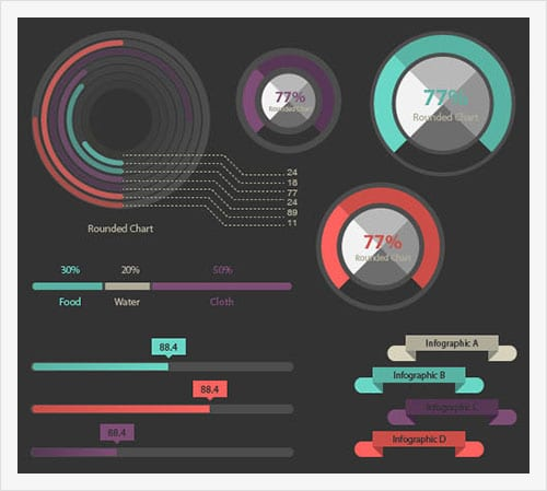 100-Infographic-Elements-Vector