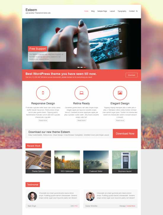 Esteem-multipurpose-responsive-Free-WordPress-theme