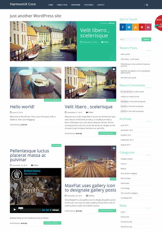 HarmonUX-Core-Free-wordpress-theme