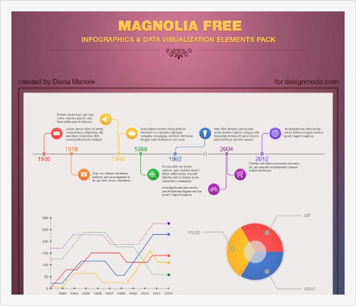 Magnolia-Infographic-PSD-Template