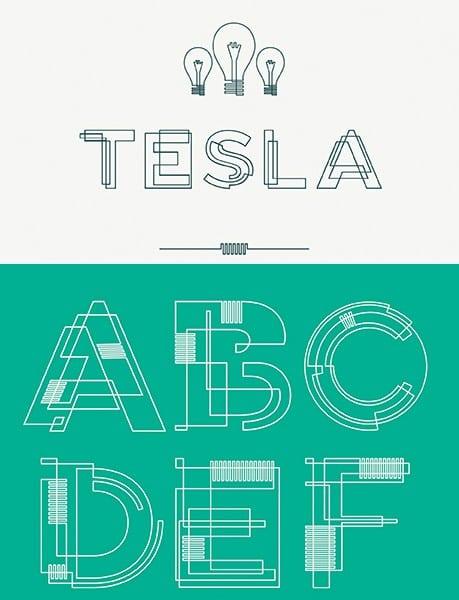 free-fonts-2014-tesla