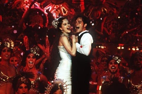 "HANDOUT PHOTO. NO SALES. FILE--Nicole Kidman and Ewan McGregor perform a song-and-dance number in the musical ""Moulin Rouge,"" one of the five films nominated for a best- picture Oscar. ""Moulin Rouge"" was the first live-action musical nominated for best picture since ""All That Jazz"" 22 years ago. (AP Photo/20th Century Fox, Sue Adler)"