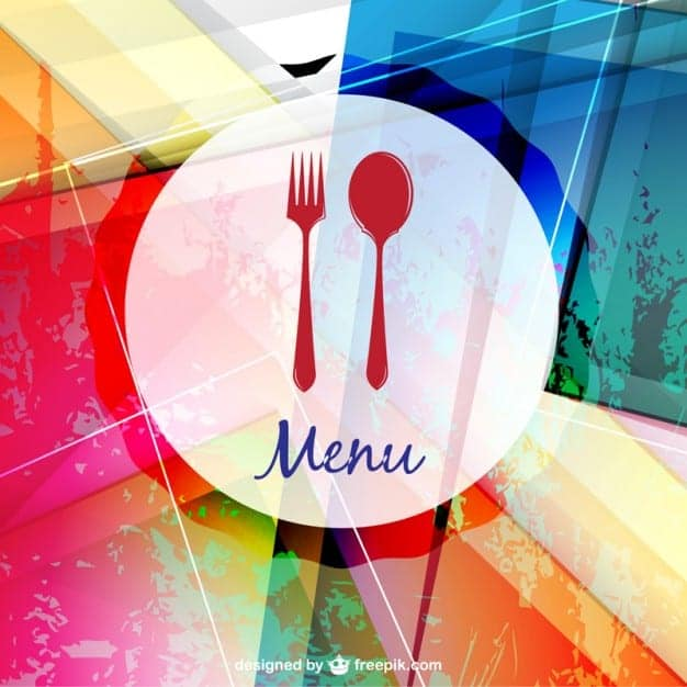 printable food menus