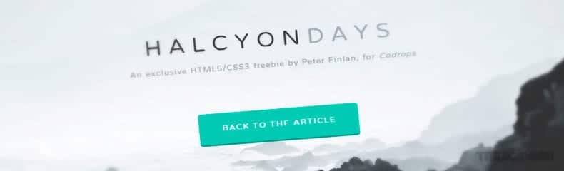 halcyon-days-html-css-template