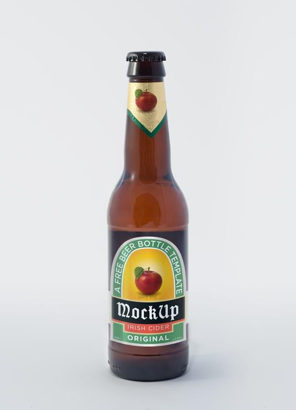 Botella cerveza mockup