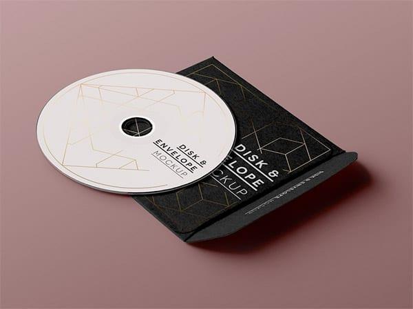 Empaquetado CD mockup