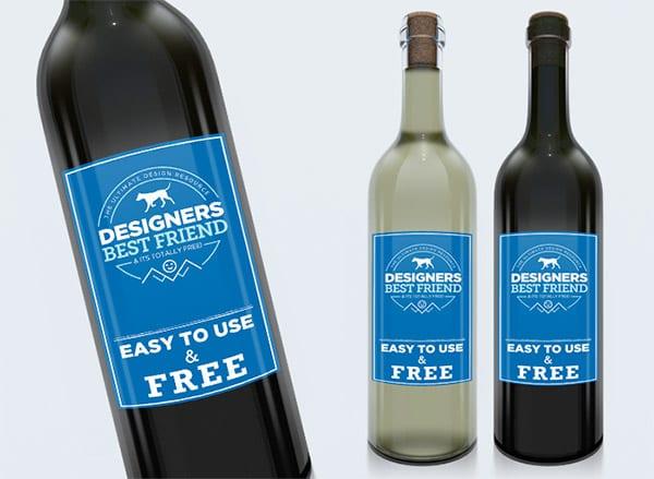 Etiquetas vino mockup