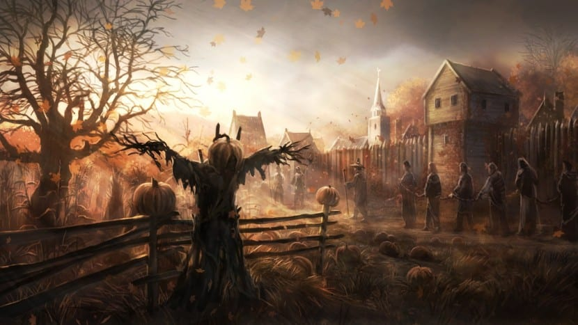 Halloween otoño miedo esclavos