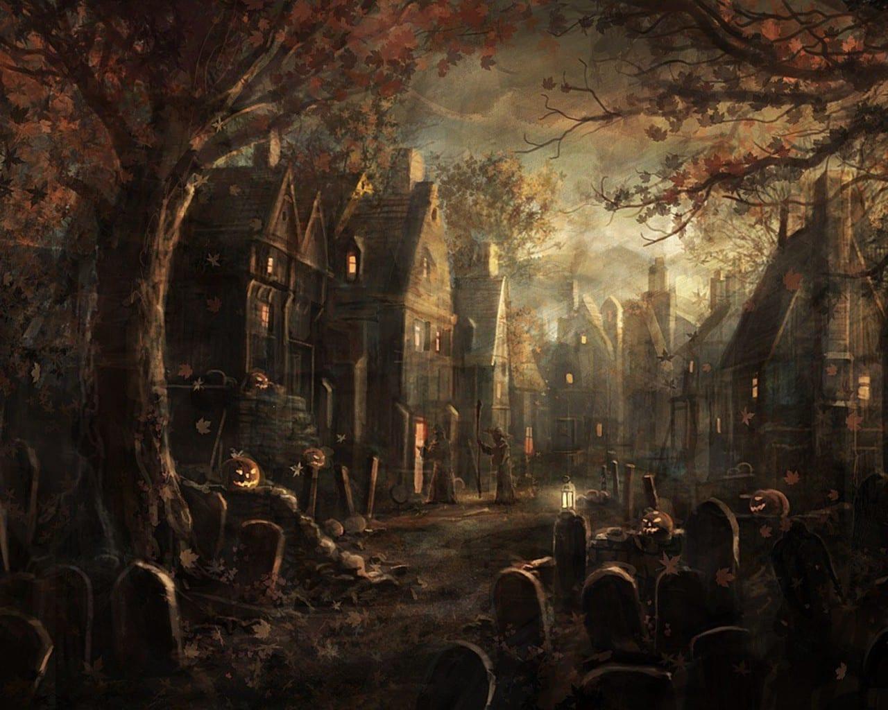 cementerio ciudad Halloween