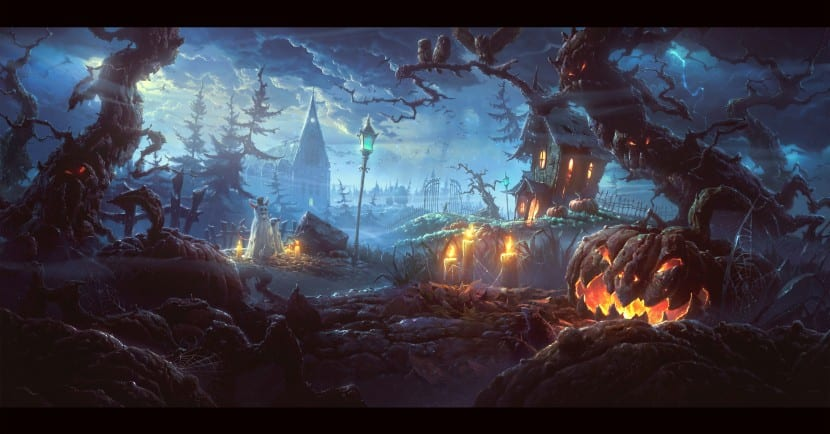 paisaje miedo Halloween