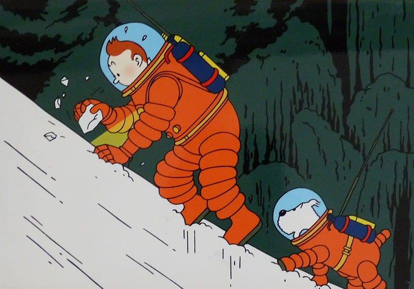 Tintin ejemplo línea clara