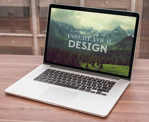 Mockup de MacBook