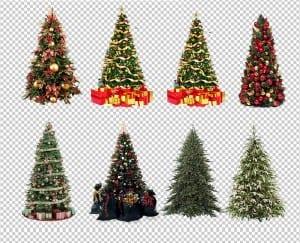 Árboles de navidad en formato png