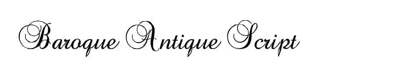 Fuente Barroque Antique Script