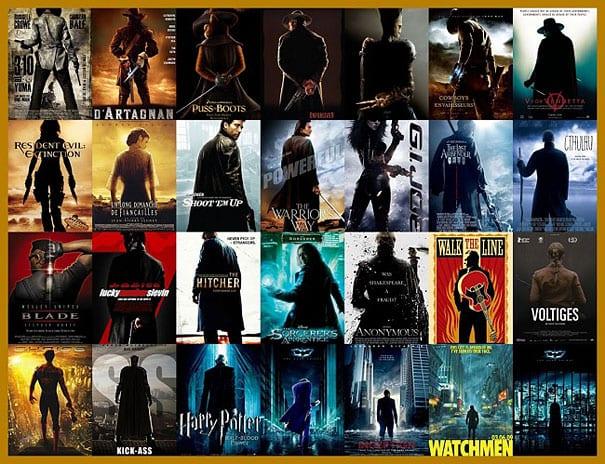 Clichés en carteles de cine