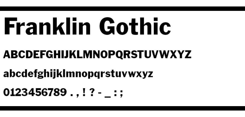 franklin-gothic-font