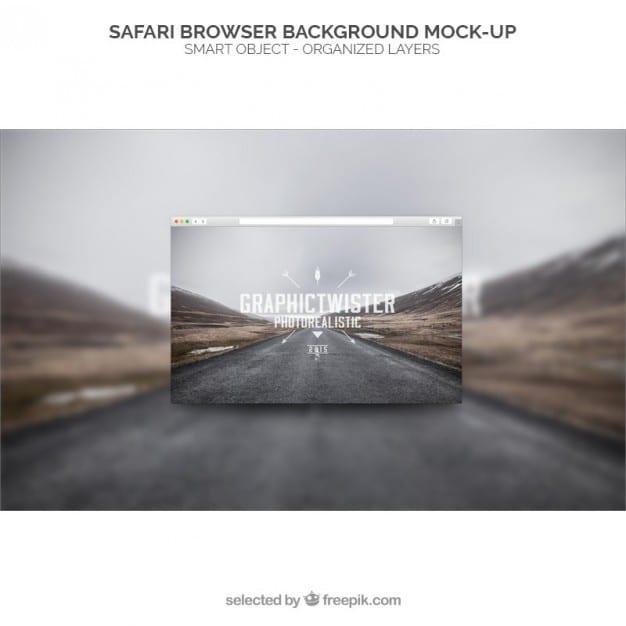 maqueta-de-fondo-de-navegador-safari_1022-19