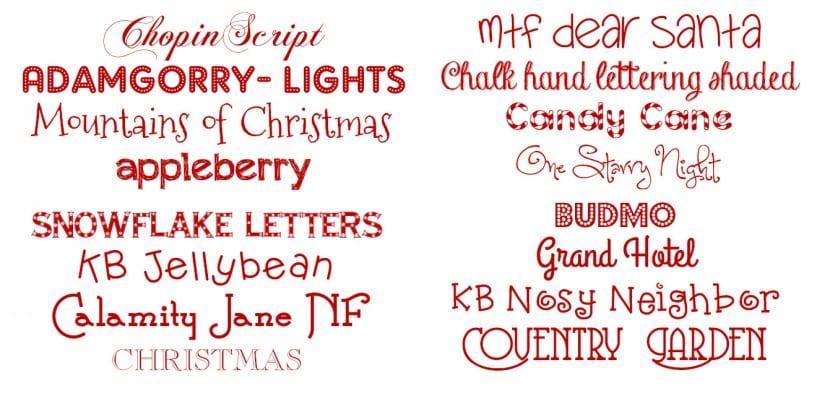 Tipografías para Navidad 2015