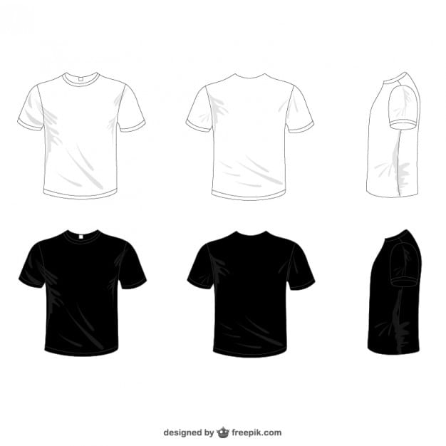 vectores-camisetas-blancas-y-negras_23-2147493611