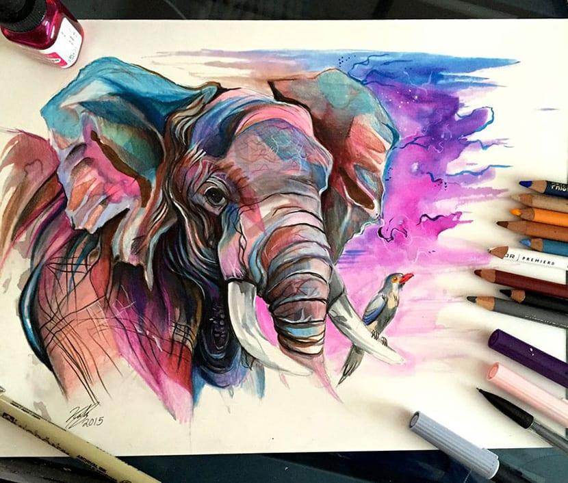 Los Animales Salvajes En Lápices De Colores Por Limpscomb