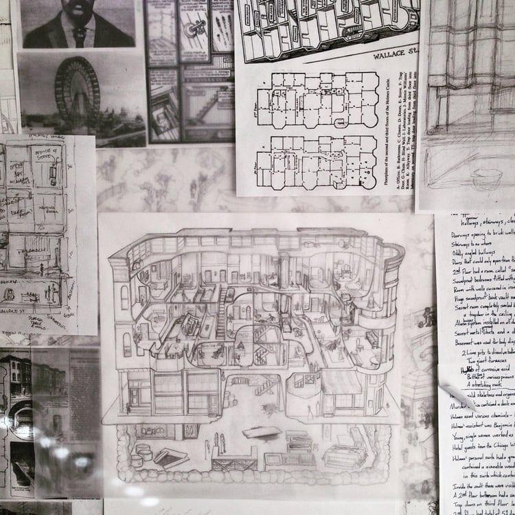 Una Artista Ilustra El Castillo De Los Horrores De H H Holmes Creativos Online