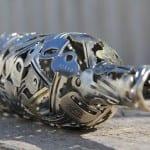 arte reciclado metal monedas moerkey