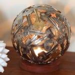 arte reciclado metal monedas moerkey 10