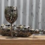 arte reciclado metal monedas moerkey 2