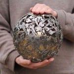 arte reciclado metal monedas moerkey 3
