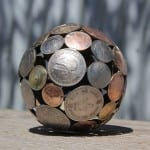 arte reciclado metal monedas moerkey 7