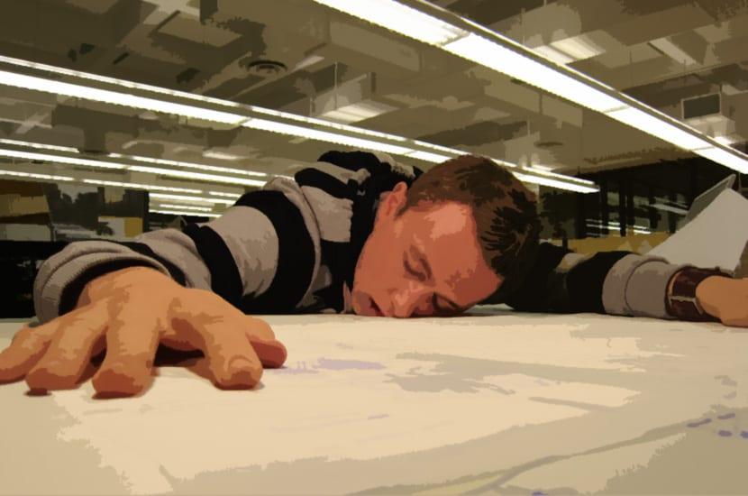 Diseñador cansado