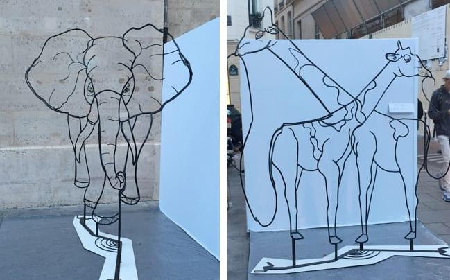 Escultura cable