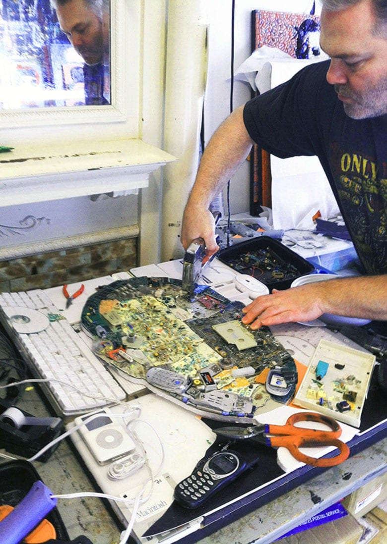 steve jobs retrato piezas ordenador 1