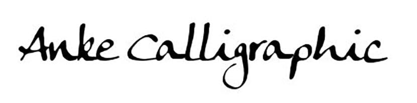 Anke-calligraphic