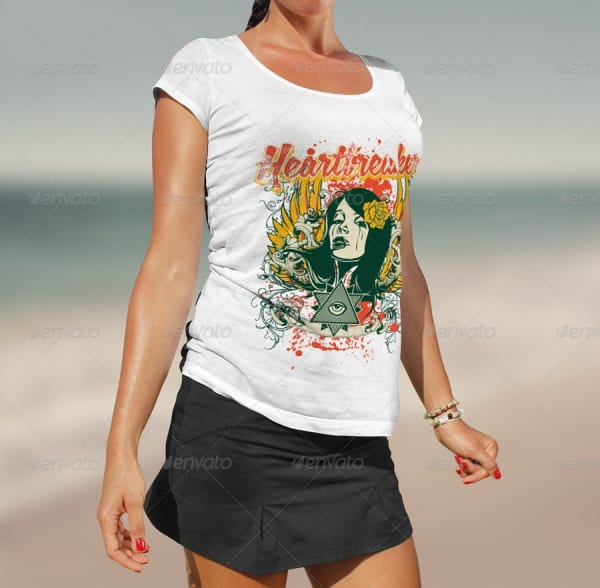 Beach-T-Shirt-Mock-up