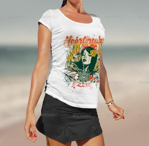 Beach-T-Shirt-Mock-up