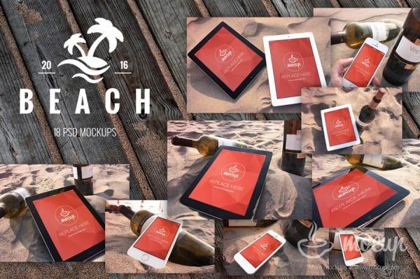 Customizable-PSD-Beach-Mockup