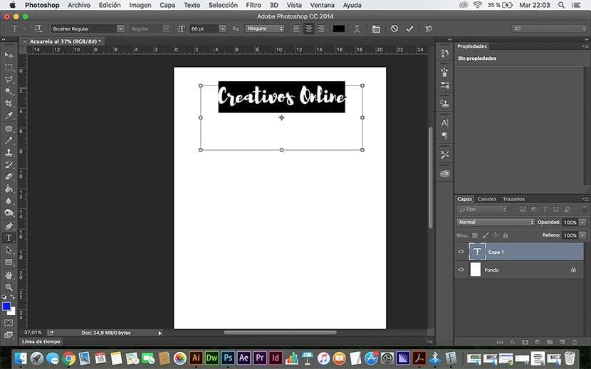 Cambio de tipografía