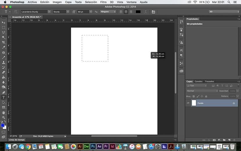 Generar texto photoshop