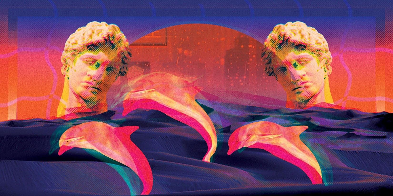 Ilustración Vaporwave Natasha Hassan
