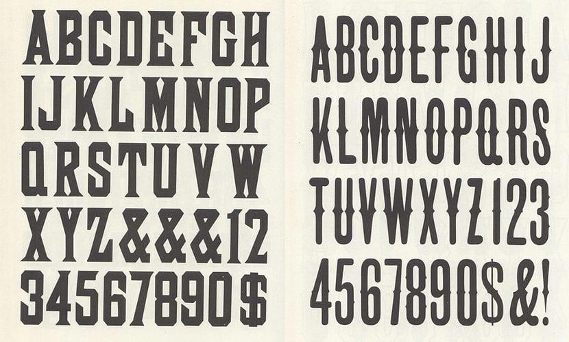 alfabetos vintage