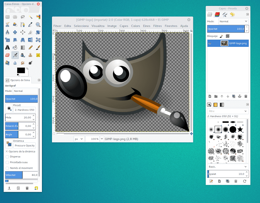 Nueva version de Gimp