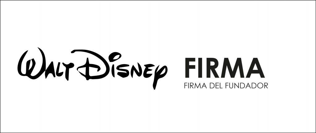 Disney usa la firma de su fundador para representar su marca.