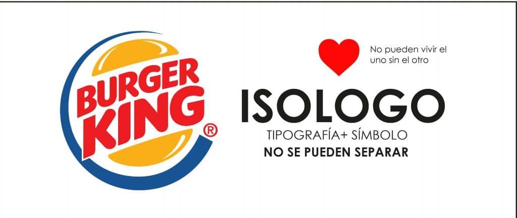 Burguer king usa un isologo para representar su marca