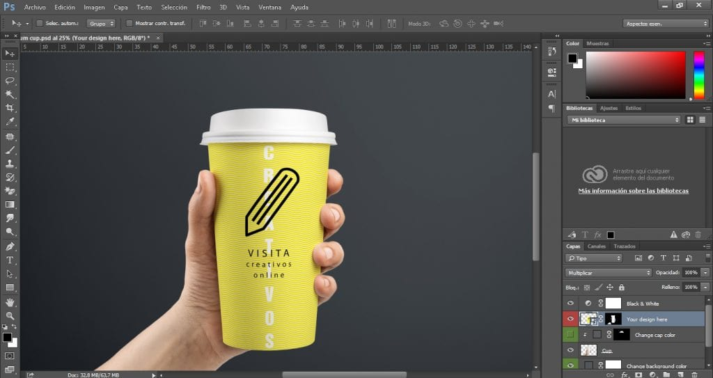 Mockup de Creativos online
