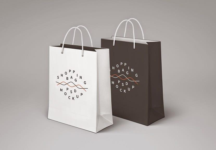 Mockup en bolsa de tela