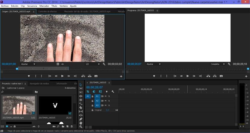 Premire es un programa profesional para la edición de vídeo.