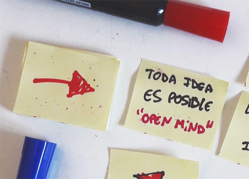 Abre la mente y si todo lo que se te ocurra cunado hagas una lluvia de ideas