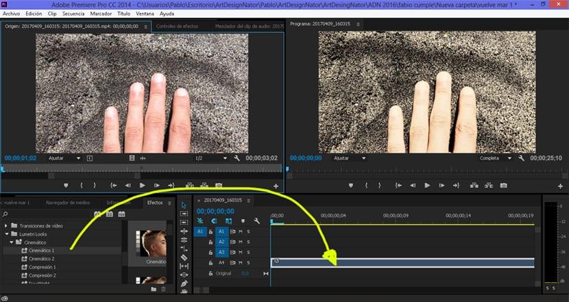 Aplicar un efecto en Adobe Premiere es muy fácil y rápido.
